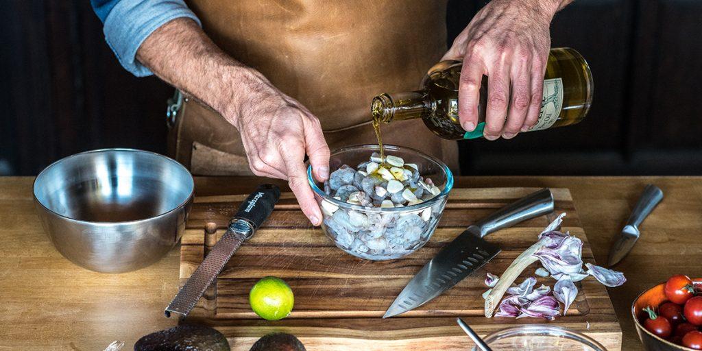 Gegrilde coquille met hazelnoot