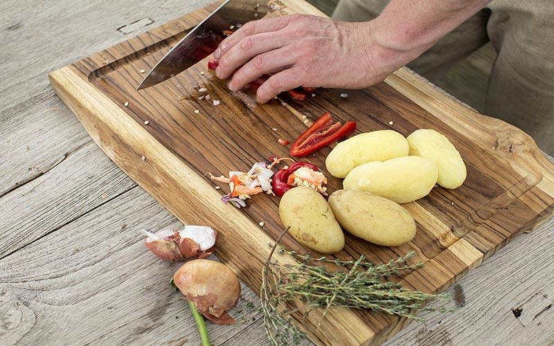 Kartoffeltortilla mit Paprika