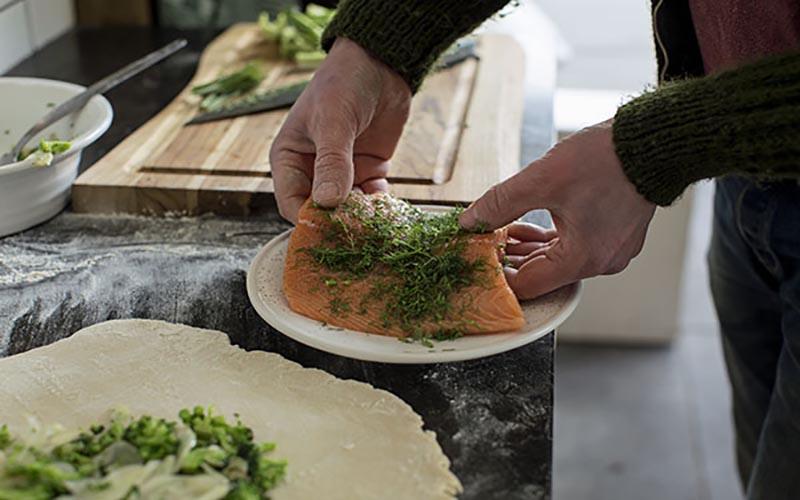Salmon In Brioche
