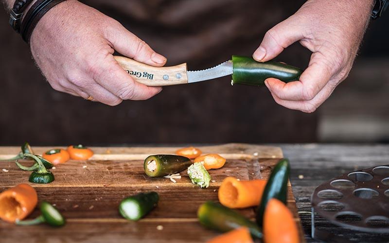 Gevulde puntpaprika's met groenterub