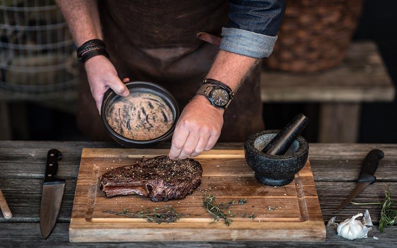 Côte de boeuf met rub voor steak
