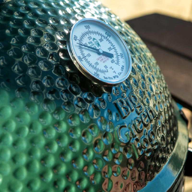 Tel-Tru Temperature Gauge in the big green egg