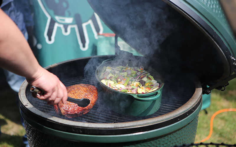Koken op de Big Green Egg