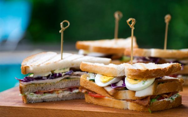 Club Sandwich With Smoked Chicken