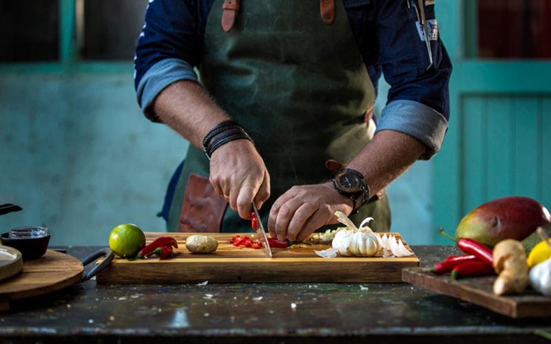groentes snijden