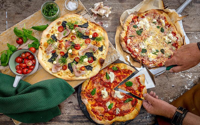 Pizza dreimal anders und selbstgemacht