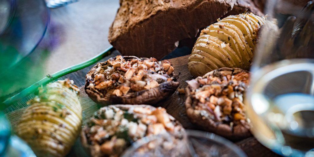 Gevulde portobello met parmezaan en truffel