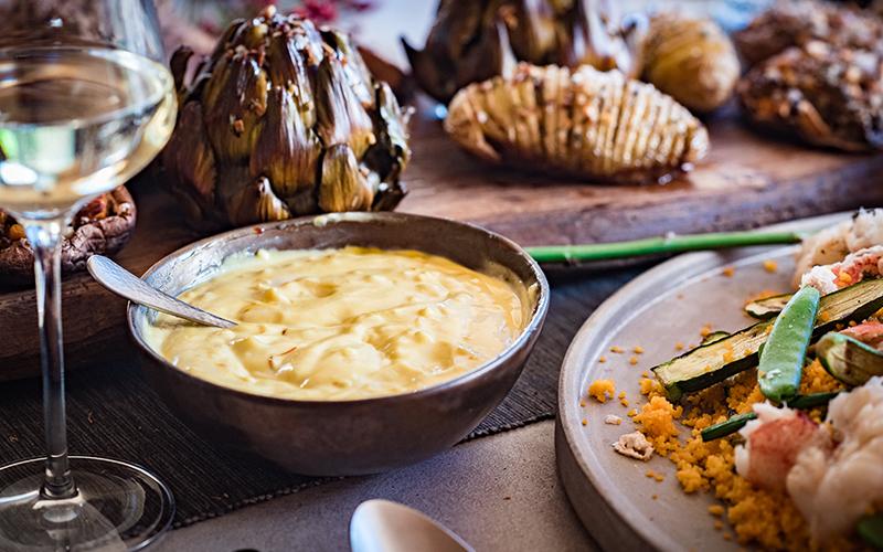 Safransosse mit Crème fraîche