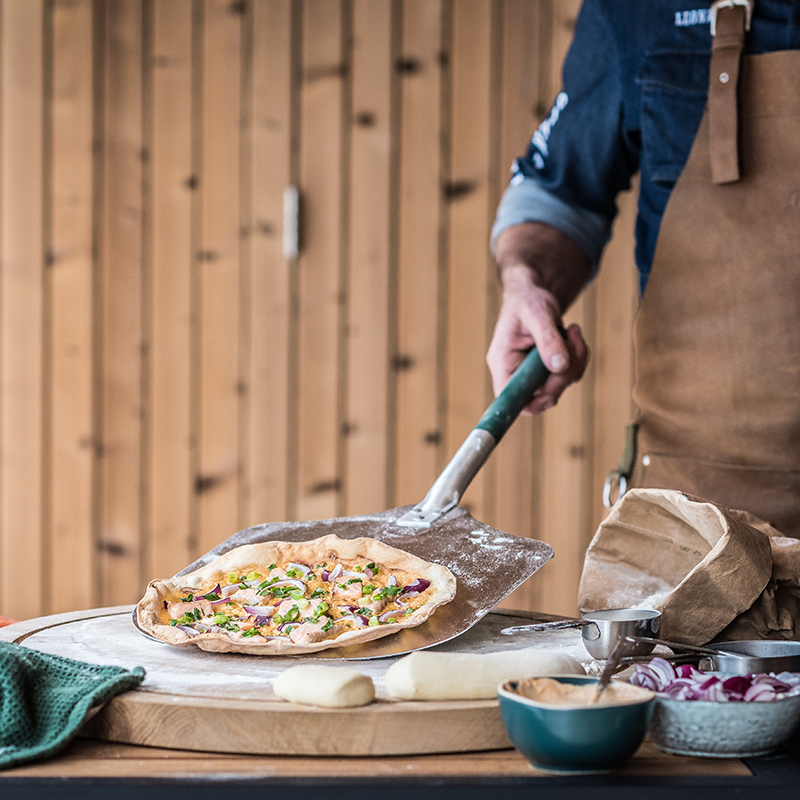 Variace Flammkuchen z Big Green Egg