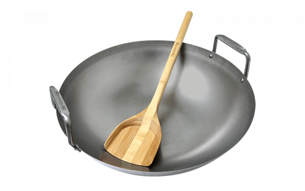 Carbon Steel Grill Wok Bamboo Spatle