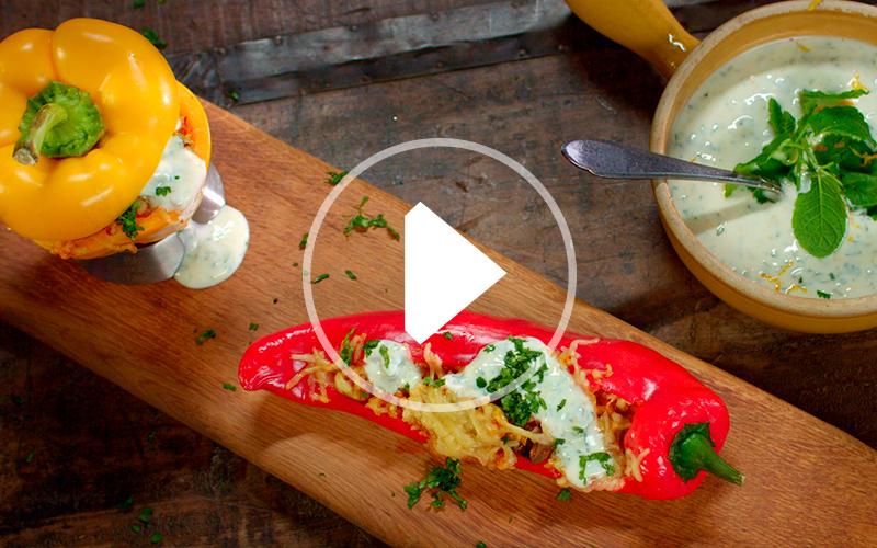 Bulger gevulde paprika's