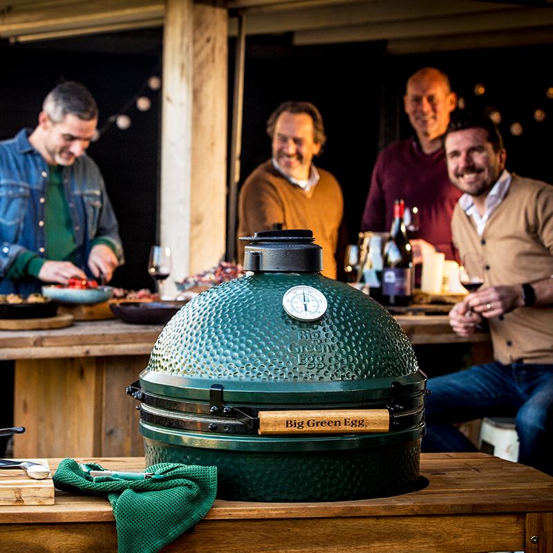 big green egg t-bone steak party