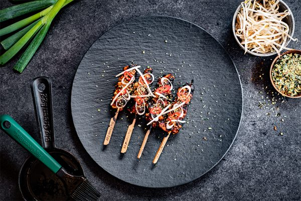 Yakitori skewers from the Big Green Egg