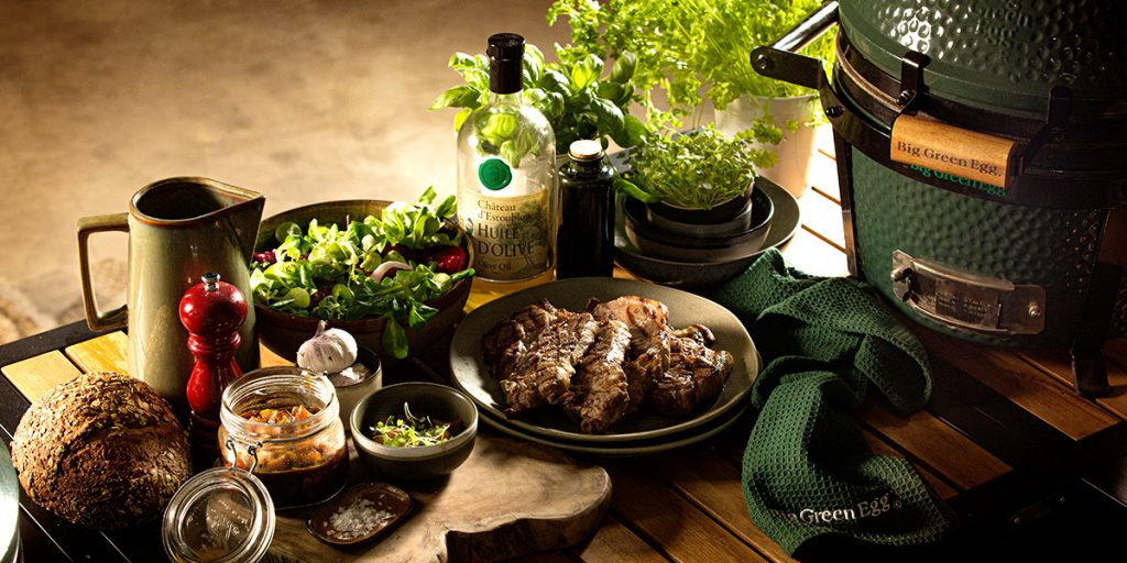 Braciole di maiale nel Big Green Egg