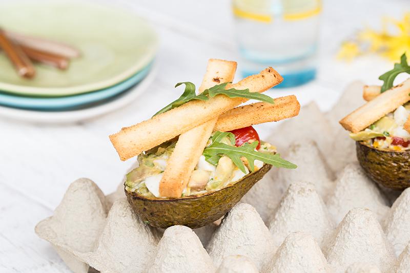 Salade van gegrilde avocado