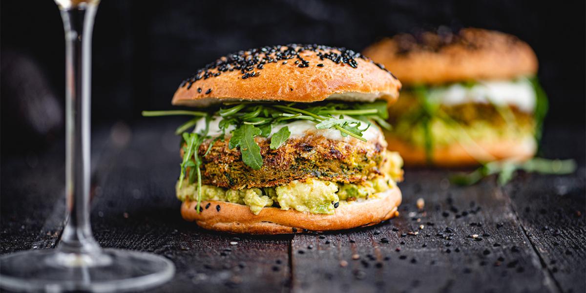 Burger végétarien aux falafels